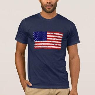 Camiseta T-shirt afligido da bandeira americana