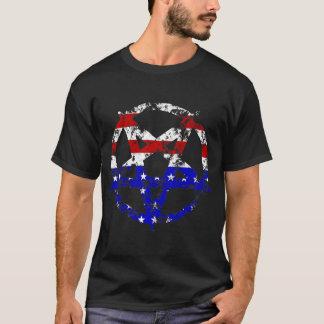 Camiseta T-shirt afligido do Pentagram da bandeira