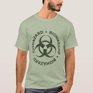 Camiseta T-shirt afligido do símbolo do Biohazard