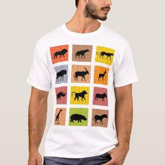 Camiseta T-shirt africano dos animais