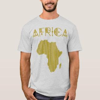 Camiseta T-shirt africano dourado