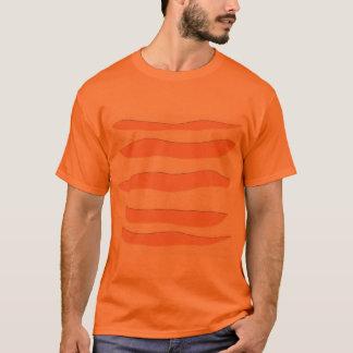 Camiseta T-shirt alaranjado com listras do tigre