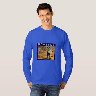 Camiseta T-shirt alaranjado da arte da caixa de Redlands