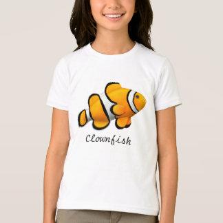 Camiseta T-shirt alaranjado de Percula Clownfish dos miúdos