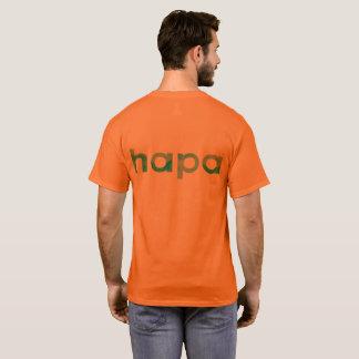 Camiseta T-shirt alaranjado do Hapa dos homens