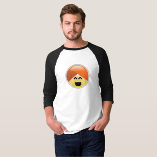 Camiseta T-shirt alegre de Emoji do turbante de Guru da