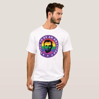 Camiseta T-shirt alegre do homem de Lincoln