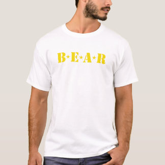 Camiseta T-shirt alegre do urso