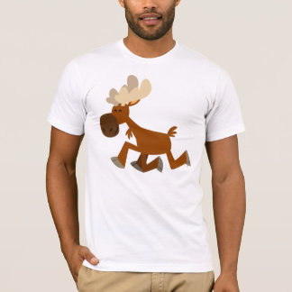 Camiseta T-shirt alegre dos alces dos desenhos animados