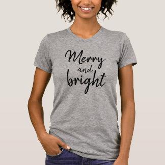 Camiseta T-shirt alegre e brilhante do Natal