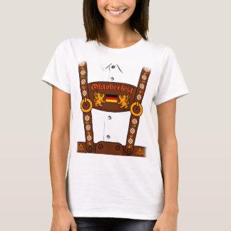 Camiseta T-shirt alemão dos Lederhosen de Oktoberfest
