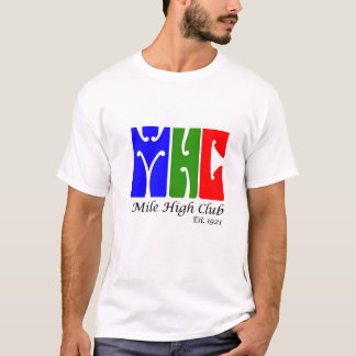 Camiseta T-shirt alto do clube da milha