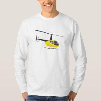 Camiseta T-shirt amarelo do helicóptero