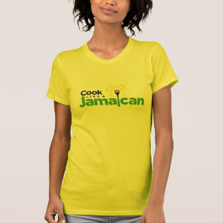 Camiseta T-shirt amarelo do jérsei do algodão das mulheres
