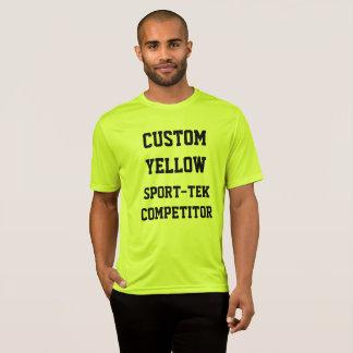 Camiseta T-SHIRT AMARELO do SPORT-TEK dos homens