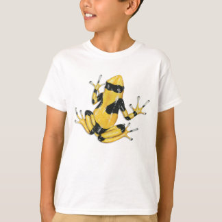 Camiseta t-shirt Amarelo-unido do sapo do dardo do veneno