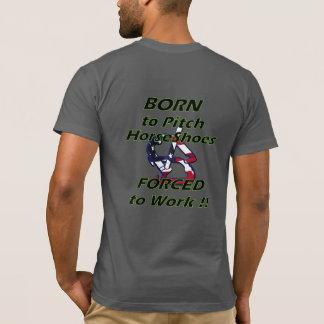 Camiseta T-shirt americano básico do roupa das ferraduras