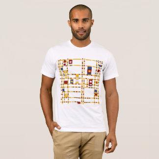 Camiseta T-shirt americano básico do roupa dos homens