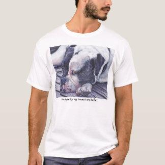 Camiseta T-shirt americano da arte do buldogue