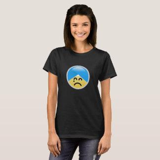 Camiseta T-shirt americano de Emoji do turbante da decepção