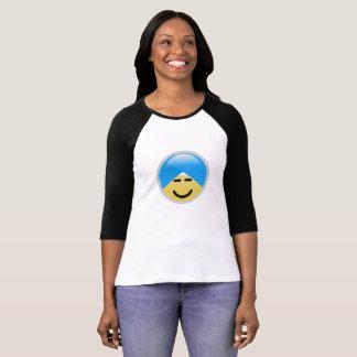 Camiseta T-shirt americano de Emoji do turbante do smiley