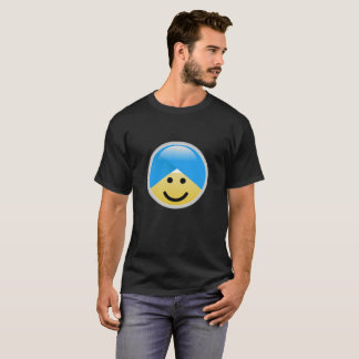 Camiseta T-shirt americano de Emoji do turbante do sorriso