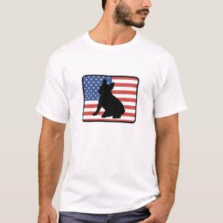Camiseta T-shirt americano do buldogue francês