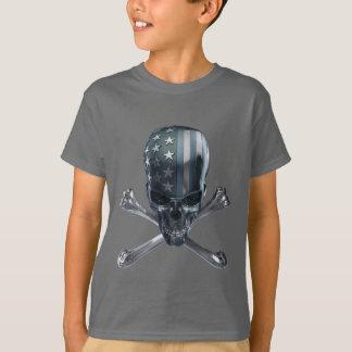 Camiseta T-shirt americano do crânio