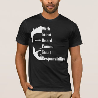 Camiseta T-shirt americano do roupa da grande barba