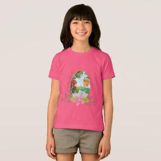 Camiseta T-shirt americano do roupa das meninas do rei & da
