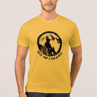 Camiseta T-shirt americano do roupa de BeerAndaBackpack