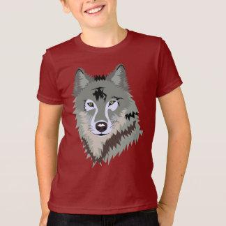 Camiseta T-shirt americano do roupa do LOBO
