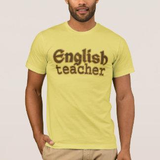 Camiseta T-shirt americano do roupa do professor de inglês