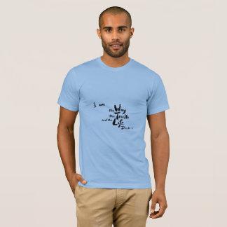 Camiseta T-shirt americano do verso da bíblia do roupa