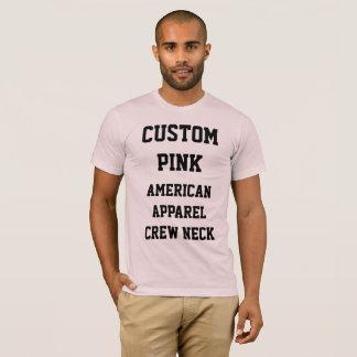 Camiseta T-SHIRT AMERICANO ROSA PÁLIDO do ROUPA dos homens