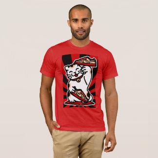Camiseta T-shirt americano vermelho básico do roupa dos