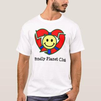 Camiseta T-shirt amigável do clube do planeta dos adultos