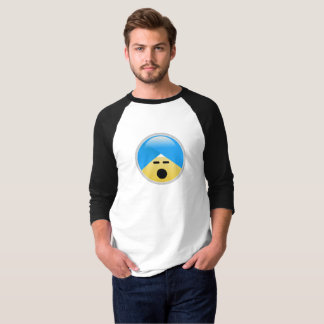 Camiseta T-shirt angustiado americano de Emoji do turbante