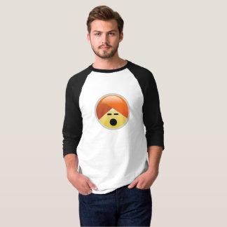 Camiseta T-shirt angustiado de Emoji do turbante de Guru da