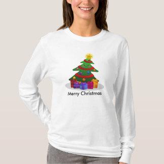 Camiseta T-shirt animador da árvore de Natal