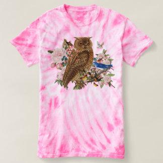 Camiseta T-shirt animal de TieDye do espírito da coruja