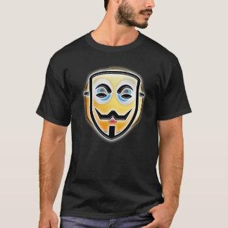 Camiseta T-shirt anónimo engraçado feliz da máscara do Dia
