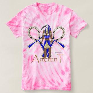 Camiseta T-shirt antigo da Laço-Tintura das senhoras de