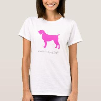 Camiseta T-shirt apontar Griffon Wirehaired (rosa)