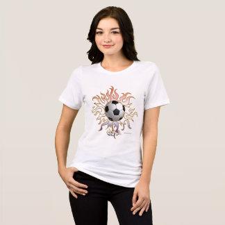 Camiseta T-shirt apto relaxado de Sun do futebol senhoras