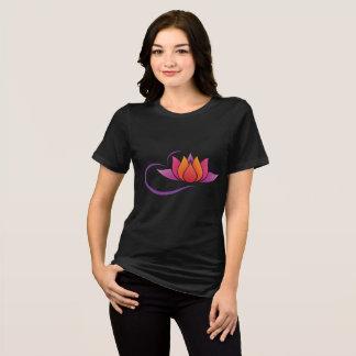 Camiseta T-shirt apto relaxado do jérsei das mulheres