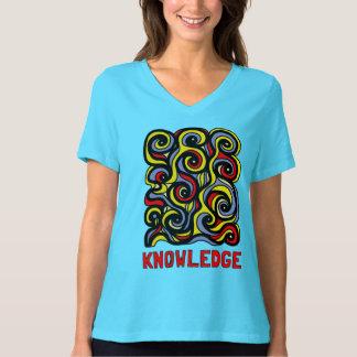 Camiseta T-shirt apto relaxado do V-Pescoço das mulheres do