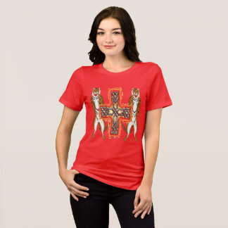 Camiseta T-shirt apto relaxado senhoras da cruz do Celt do