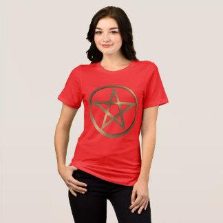 Camiseta T-shirt apto relaxado senhoras do Pentacle do Rune