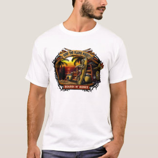 Camiseta T-shirt arborizado do por do sol de Davey Bonez